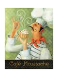 Cafe Moustache II Premium Giclée-tryk af Lisa Audit