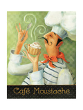 Cafe Moustache II Premium Giclee Print by Lisa Audit