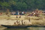 Village on the Bank of the Hooghly River, Part of the Ganges River, West Bengal, India, Asia Impressão fotográfica por Bruno Morandi