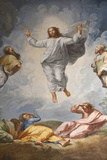 Raphael's Oil Painting of the Resurrection of Jesus Altar of the Transfiguration Altarpiece Fotografisk tryk af  Godong