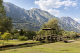 A Foot Bridge with Views of the Bay of Kotor, Morinj, Montenegro, Europe Premium Photographic Print by Charlie Harding
