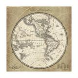 French World Map III Premium Giclee Print by Sue Schlabach