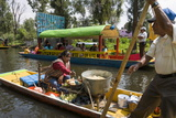 Food Vendor at the Floating Gardens in Xochimilco Fotografie-Druck von John Woodworth