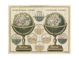 Antique Globes Reproduction giclée Premium par Hugo Wild