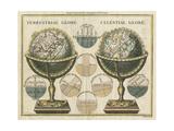 Antique Globes Stampa giclée premium di Hugo Wild