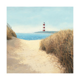 Beach Path Square Premium Giclee Print by James Wiens