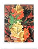 Efterårsblade Plakat af Georgia O'Keeffe