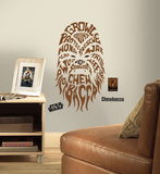 Star Wars - Typographic Chewbacca Peel and Stick Giant Wall Decal Veggoverføringsbilde