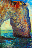 Claude Monet The Rocky Cliffs of Etretat La Porte Man 2 Posters