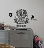 Star Wars - Typographic Darth Vadar Peel and Stick Giant Wall Decal Muursticker