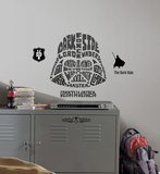 Star Wars - Typographic Darth Vadar Peel and Stick Giant Wall Decal Seinätarra