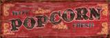 Hot Fresh Popcorn Vintage Wood Sign Wood Sign