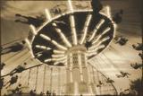 Bavarian Swings, Amusement Park, Pennsylvania Reproduction photographique par Theo Westenberger