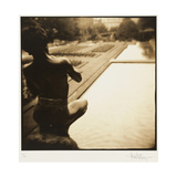 Pan and the pool, Lake Como, Italy Reproduction photographique par Theo Westenberger