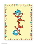 Cat in Hat Yellow Border Collection II - Thing 1 & Thing 2 (yellow bordered) Prints by Theodor (Dr. Seuss) Geisel