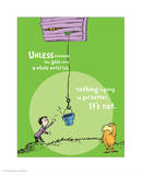 Unless Someone Cares (green) Posters por Theodor (Dr. Seuss) Geisel