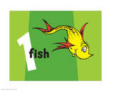 One Fish Two Fish Collection I - One Fish (green) Prints by Theodor (Dr. Seuss) Geisel