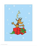 Grinch Collection IV - Max (snow) Poster by Theodor (Dr. Seuss) Geisel