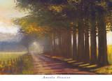 Sunset Highway Print by Amanda Houston
