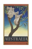 Australia Poster Giclée-tryk af Eileen Mayo