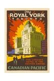 The Royal York Toronto Luggage Label Giclée-Druck