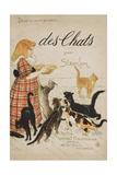 Des Chats Book Cover Lámina giclée por Théophile Alexandre Steinlen