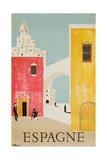Espagne Poster Reproduction procédé giclée par Bernard Villemot