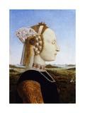Portrait of the Duchess of Urbino, Battista Sforza Giclee Print by  Piero della Francesca