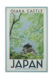 Osaka Castle Japan Poster Reproduction procédé giclée