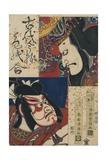 Two Kabuki Actors Giclee Print by Torii Kiyomitsu II and Toyokuni III