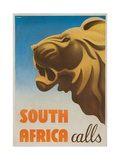 South Africa Calls Poster Giclee Print by Gayle Ullman