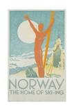 Norway, the Home of Skiing Poster Reproduction procédé giclée par Trygve Davidsen
