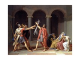Oath of the Horatii Giclée-tryk af Jacques-Louis David