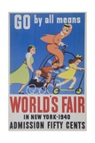 Go by All Means 1964 New York City Worlds Fair Poster Giclee Print