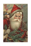 Best Wishes for Xmas Postcard Giclee Print