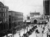 Busy Street Scene Stampa fotografica