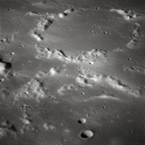 Craters on the Surface of the Moon Impressão fotográfica