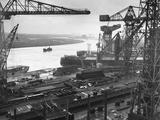 John Brown's Shipyard on the Clyde Fotografisk tryk