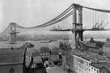 Manhattan Bridge under Construction Fotografie-Druck