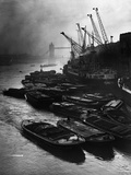 Barges Moored at Hays Wharf Photographic Print