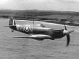 Spitfire in Flight Fotografisk tryk