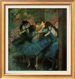 青い衣装の踊り子たち 1899年 ポスター : エドガー・ドガ