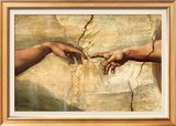 Creation of Adam, c.1510 高品質プリント : ミケランジェロ・ブオナローティ
