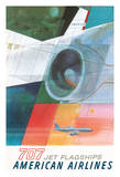 Boeing 707 Jet Flagships - American Airlines Giclee Print by Herbert Danska