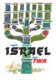 Israel - Trans World Airlines Fly TWA - Menorah Giclée-Druck