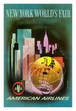 New York Worlds Fair 1964-1965 - American Airlines Lámina giclée por Henry Bencrathy