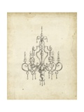Classical Chandelier III Print by Ethan Harper
