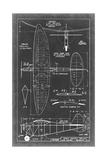 Aeronautic Blueprint I Print by  Vision Studio