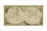 Non-Embellish World Discoveries Map Plakater av T. Jeffreys