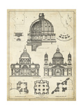 Vintage Architect's Plan II Poster by  Vision Studio